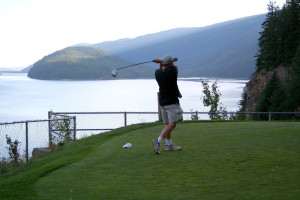 Golfing at Hyde Mountain