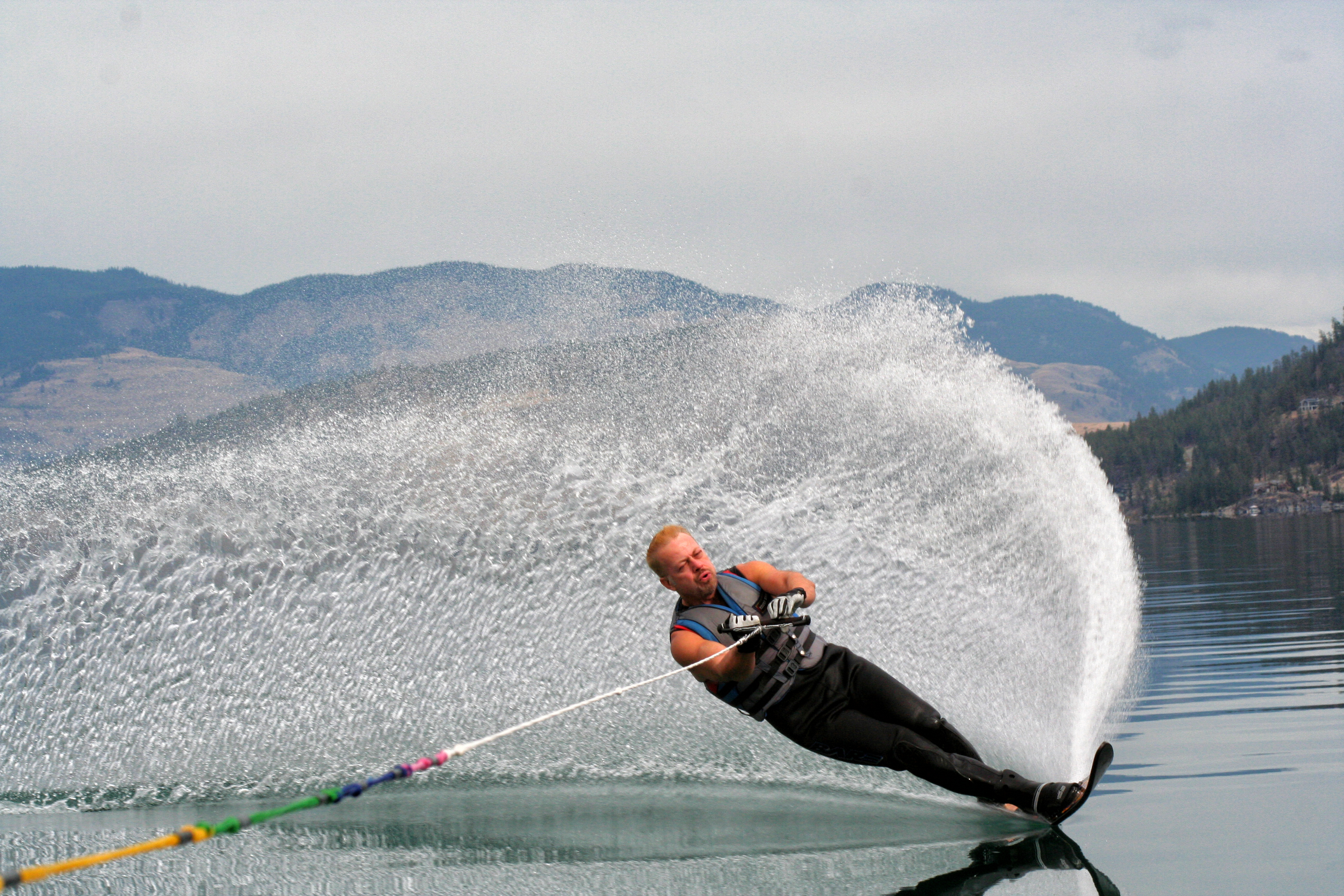 Water Skiing on Vernon's Kal Lake
