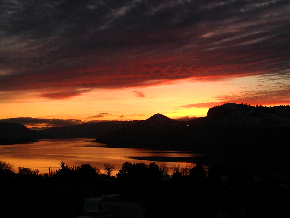 Sunset over Kalamalka Lake at Vernon