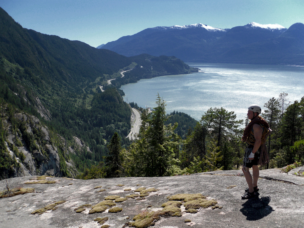 On the summit of The Stawamus Chief