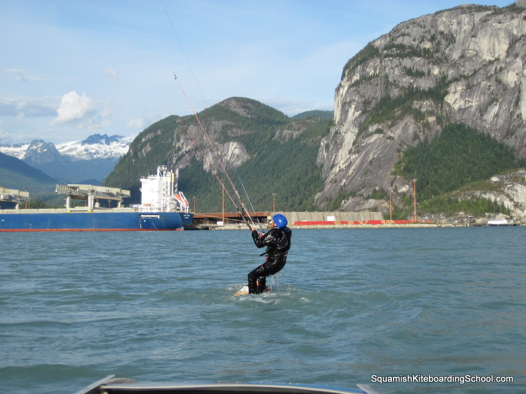 Kiteboarding at Squamish