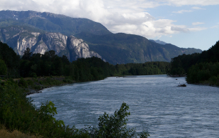 Squamish River with the Stawamus Chief