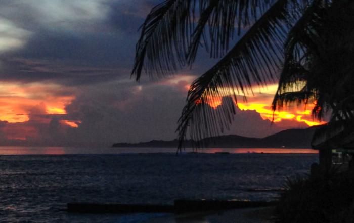 Sunset from Candidasa, Bali